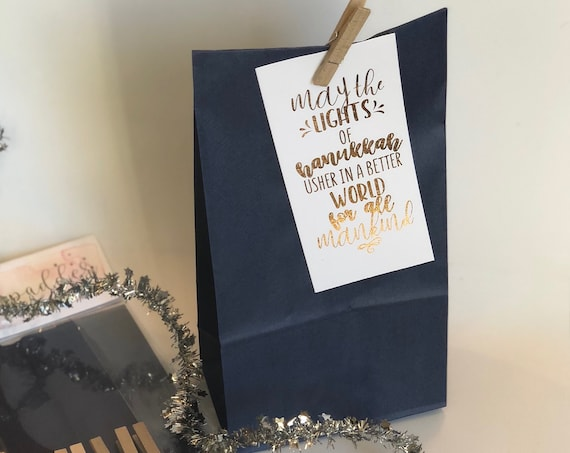 Hanukkah Gift Bag Set With Cards