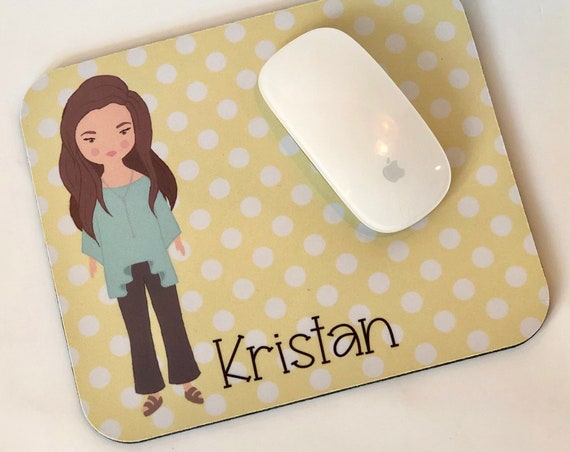 Fancy Lady Personalized Mousepad