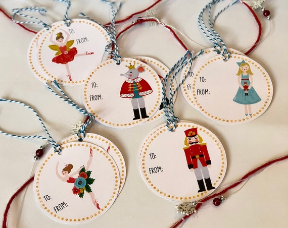 Nutcracker Gift Tags - Set of 10