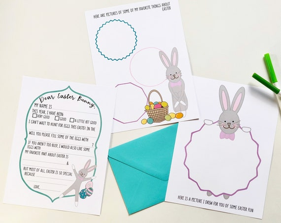 Dear Easter Bunny Letter Set