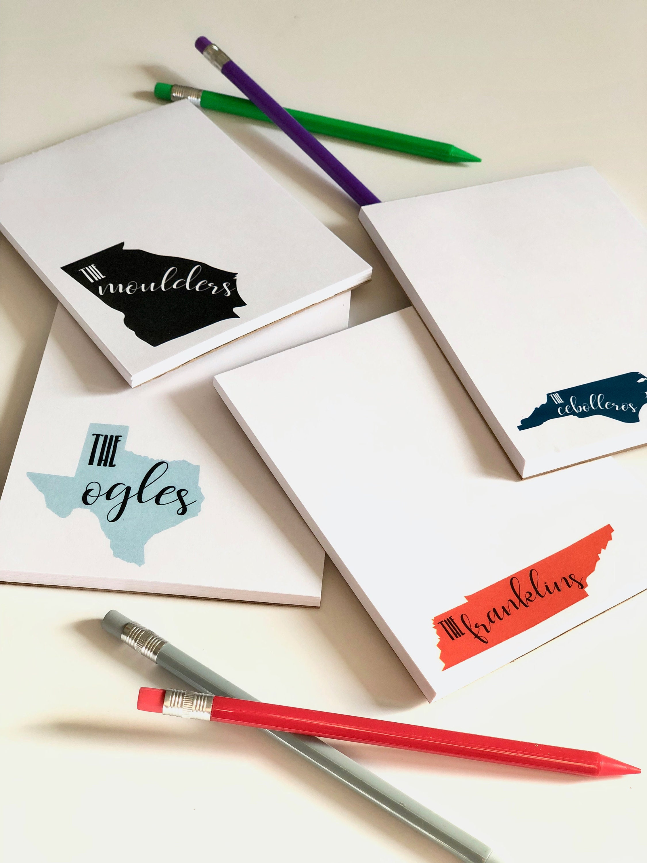 State Personalized Notepads