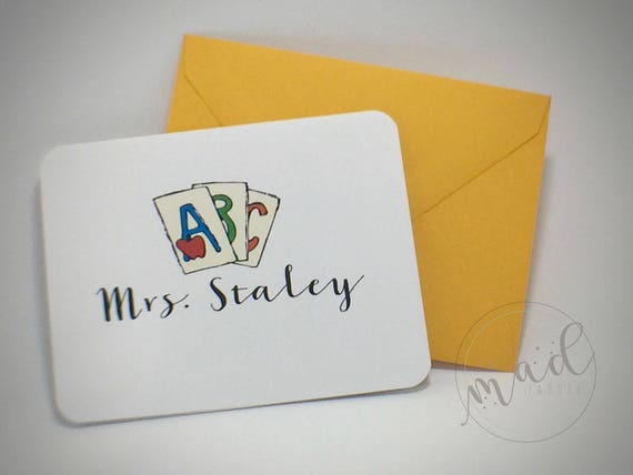 School Days Note Cards Set