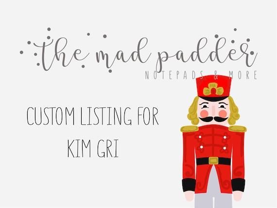 Custom Listing For kimgri