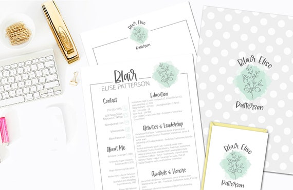 Handdrawn Floral Bouquet Sorority Rush Packet