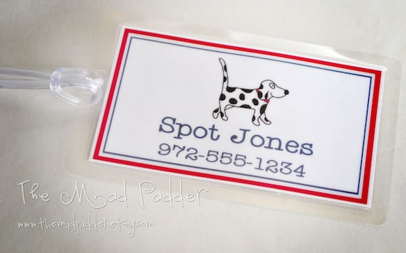 Pet Luggage Tag - Custom Made