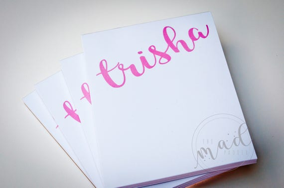 Marvelous Personalized Notepad Set