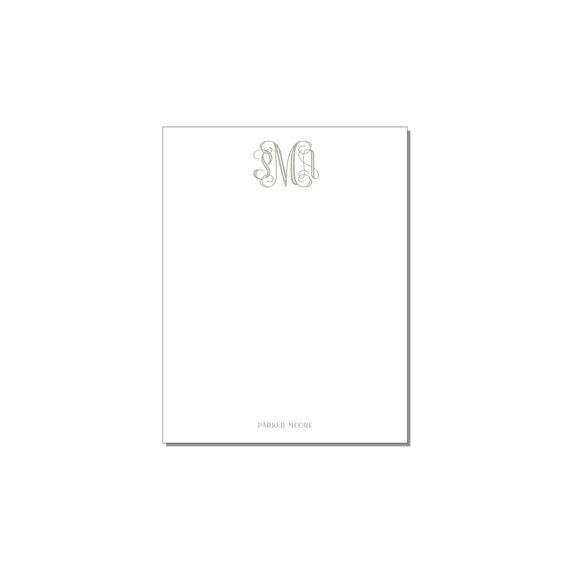 Vine Monogram Notepad