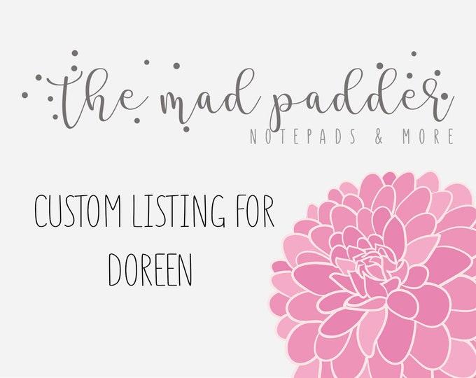 Custom Listing for Doreen