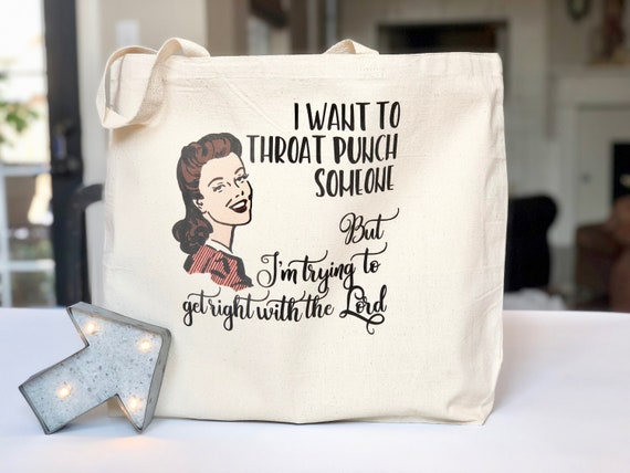 Get Right With The Lord Large Totebag