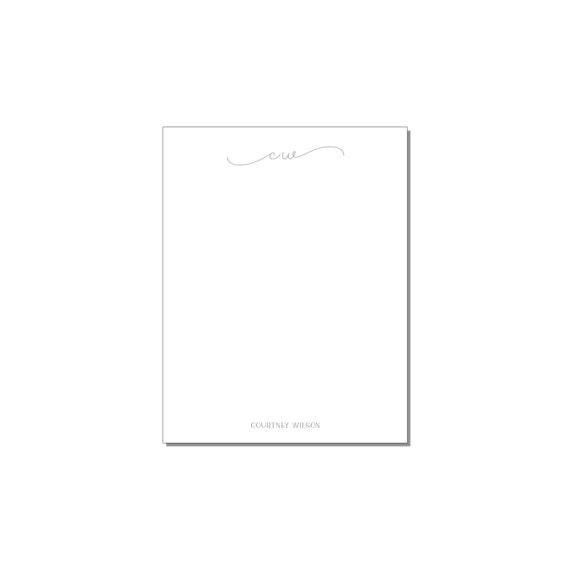 Script Initials Small Notepad