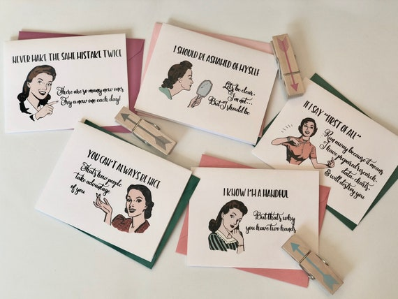 Witty Women That Never Make The Same Mistake Greeting Cards Set