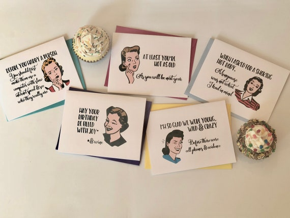 Birthday & Fun Sassy Ladies Greeting Card Set