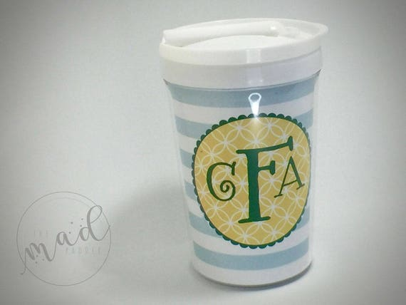 Monogram Tumbler Cup with Straw