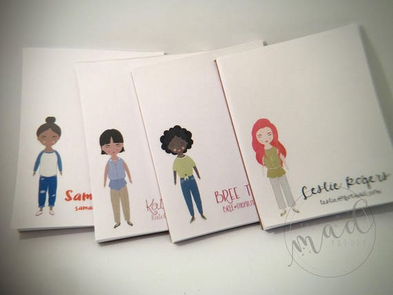 Fancy Lady Personalized Small Notepads Set