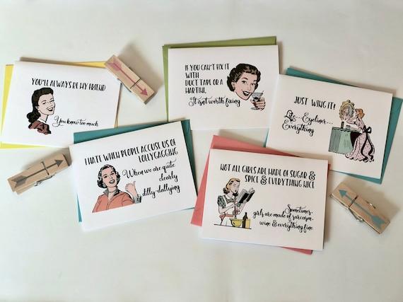 Sassy Ladies Greeting Card Set
