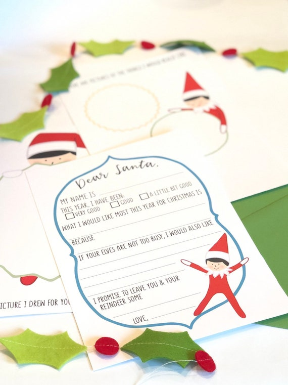 Elf On The Dear Santa Letter Set
