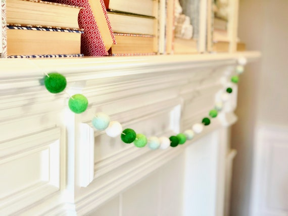 Charming Wool Felt Ball Garland