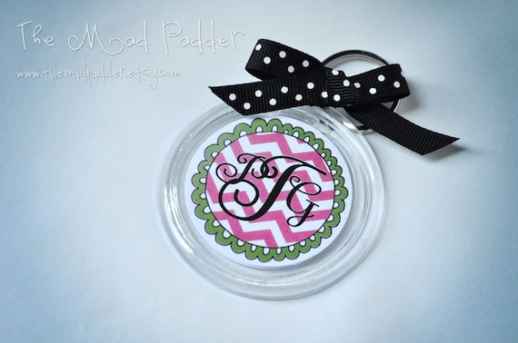 Monogram Key Chain
