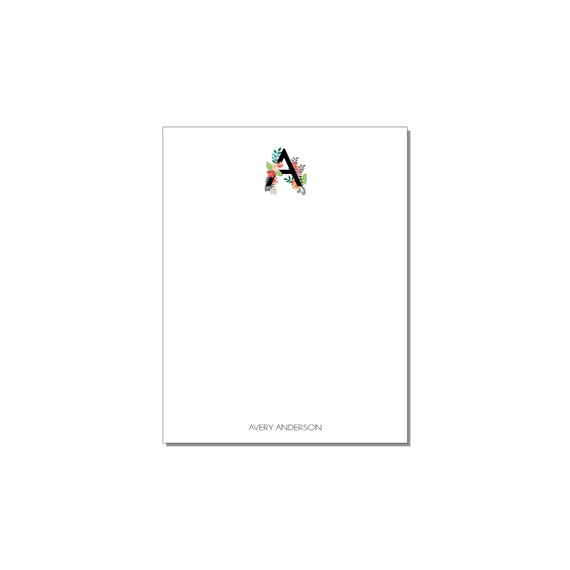 Floral Monogram Small Notepad