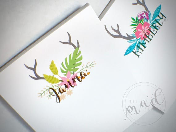 Flora & Fauna Personalized Small Notepads Set