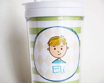 Kids Tumbler Cup with Straw