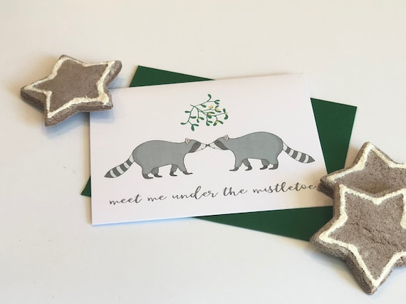 Meet Me Under The Mistletoe Greeting Card