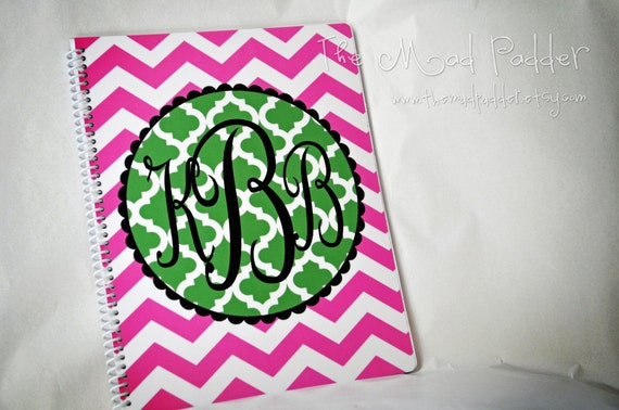 Monogram Spiral Notebook - Custom Made
