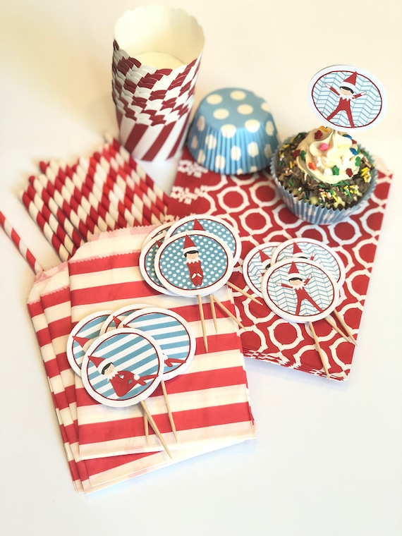 Elf Party Pack For Cupcakes, Candy, Drinks, & Treats