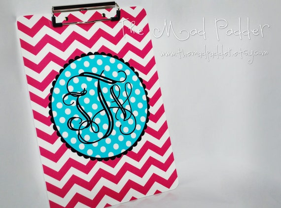 Monogram Clipboard - Custom Made