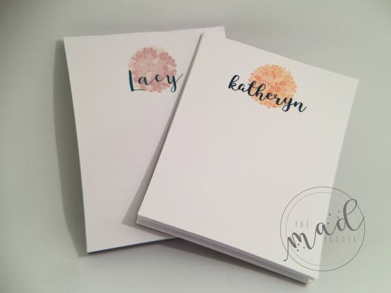 Dahlia Personalized Notepads