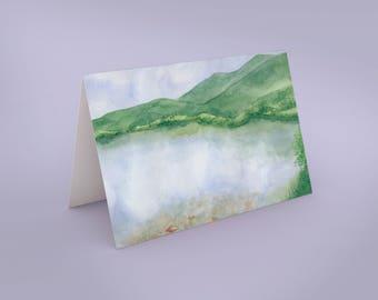 Mountian Lake Art Card