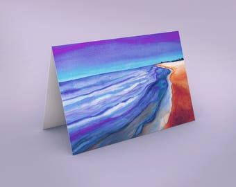 Sea Scape Art Card