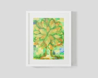 Mixed Media  Tree of Life Print