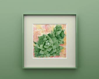 Succulent Print from Original Watercolor