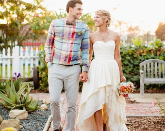 Bohemian Wedding Dress with High Low Hem - Stella by Starlight