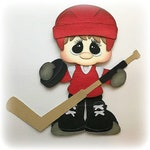Hockey sports boy premade paper piecing 3d die cut by my tear bears kira for scrapbooking cards