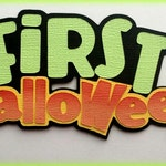 First halloween title premade paper piecing 3d die cut for scrapbooks cards planner project life by my tear bears kira