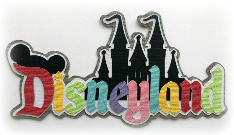 Die Cut Disneyland title premade paper piecing 3d die cut for image 0
