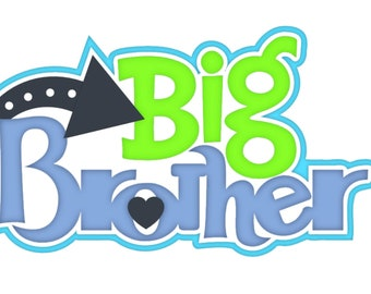 Scrapbook Die Cut big brother title, a premade paper piecing for scrapbook layouts by my tear bears kira