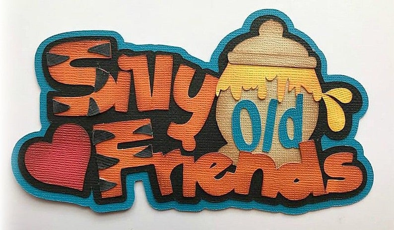 Silly old friends title Winnie the pooh summer time kids image 0