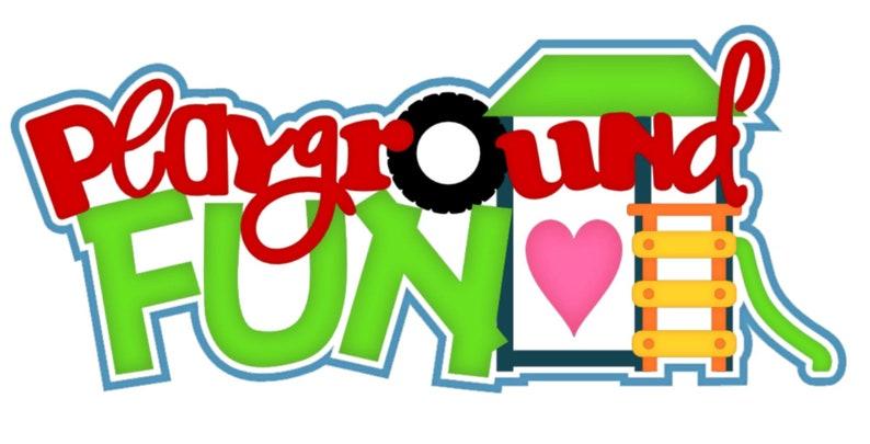 Die Cut Playground fun  title summer  pre order  paper piecing image 0