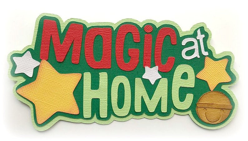 Die Cut Magic at home title Christmas holiday premade paper image 0