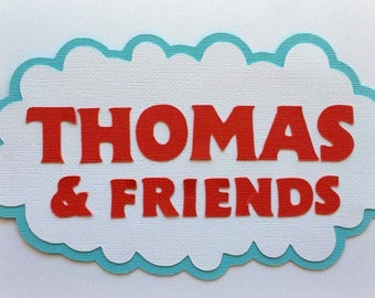 Thomas and friends title premade paper piecing 3d die cut for scrapbook card making by my tear bears kira