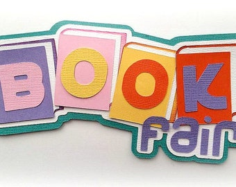 Book fair school title  premade paper piecing 3d die cut by my tear bears kira