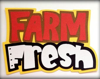 Farm fresh title animal  premade paper piecing 3d die cut by my tear bears kira