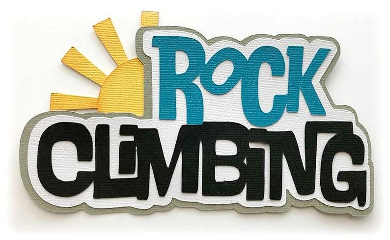Die Cut Rock Climbing title  kids premade paper piecing 3d die image 0