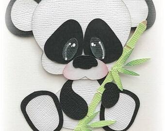 Baby panda bear animal premade paper piecing 3d die cut  by my tear bears kira