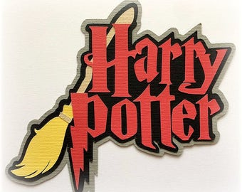 harry potter title  premade paper piecing 3d die cut by my tear bears kira