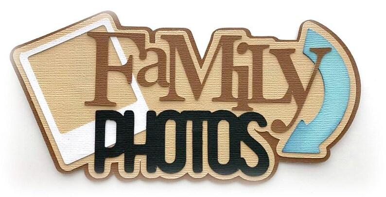 Die Cut family photos title premade paper piecing 3d die cut image 0