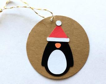 Penguin Santa Gift Tags (set of 6)